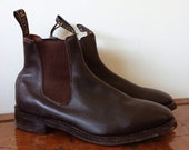 Vintage // BAXTER LEATHER Boots // Blundstone Style Work Dress Boots // RM Williams Style Riding Boots // Mens 10.5