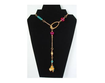 Lariat or Y  Beaded Necklace Wear It Your Way Necklace