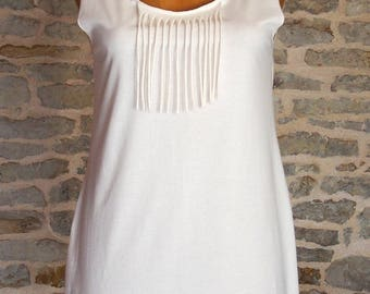 Babydoll passionate ' she screen printed organic cotton, round neckline in the back