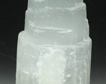Selenite 'Tower' Morocco- Mineral Specimen for Sale