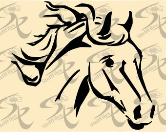 0786_Vector HORSE HEAD,SVG,dxf,ai, png, eps, jpg,Download files, Digital, graphical