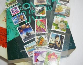 Bookmark Postage Stamps Laminated Bookmark Stamps Laminated Stamps Postage Stamp Art Book Accessory Handmade Bookmark Gift Favors – BMKL7