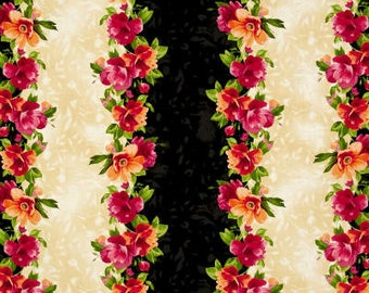 Floral Paradise Striped / custom fabric