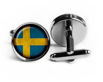 Sweden Swedish Flag Cufflinks