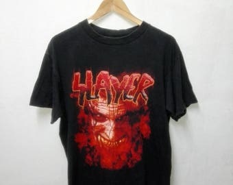 Early 2000 Slayer Rock Heavy metal band t shirt