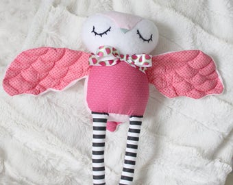 PINK OWL - Baby/Toddler Plush Toy
