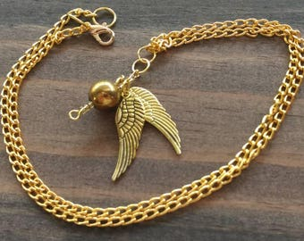Golden Snitch Quidditch Harry Potter Necklace