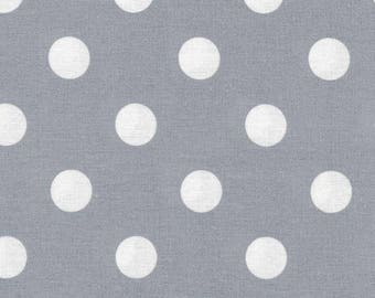 Au maison oilcloth dots giant dusty blue dots