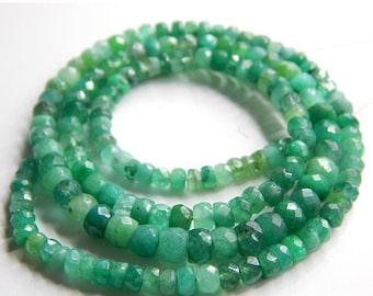 "63% OFF Emerald Faceted Beads Rondelle Shape 5x3.mm Approx 8.5""Inches Top Quality Wholesale Price New Arrival."