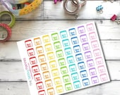 CLEARANCE SALE D3 Rent Due bill pay planner stickers for Erin Condren Life Planner