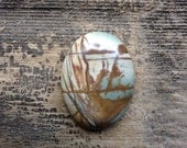 Picasso Jasper Cabochon - Oval - Blue, Brown, Yellow and Cream