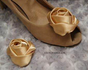 "Clip shoe ""Marie Antoinette"", for ceremony wedding romantic"