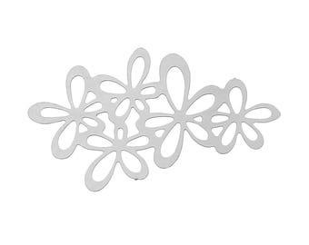 prints 2 appliques embellishment filigree silver