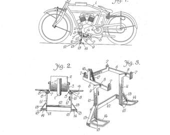 Motorcycle Support Patent #1,172,465 Dated Feb 22, 1916