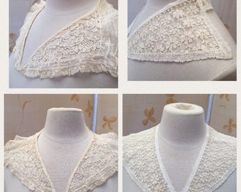 Vintage beaded and lace collars