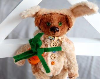 """Mini Teddy Bear,  collectible bear,  Senya, 5,9"""", 15 cm, Artist bears, brown, small bear,mohair, miniature teddy bear, handmade, toy"""
