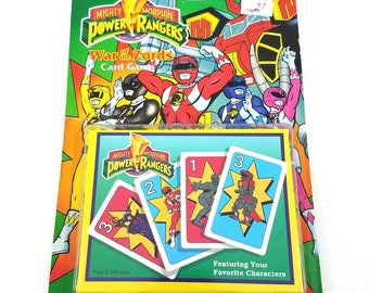 Vtg Mighty Morphin Power Rangers War Of The Zords Card Game 1994 Space Aliens