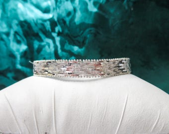 Sterling Silver Diamond Cut Flexible Bangle Bracelet