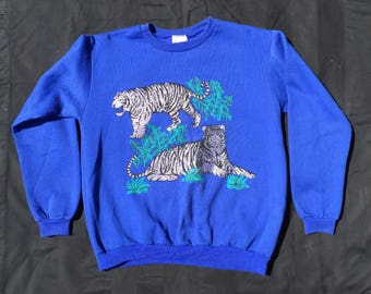 Kitch Glitter Tiger 80's - 90's Sweater