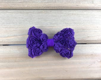 Purple Hair Clip, hair clips for girls, purple bow hair clips, girls hair clips, bow Alligator Clip, hair clip, purple hair bow for girls