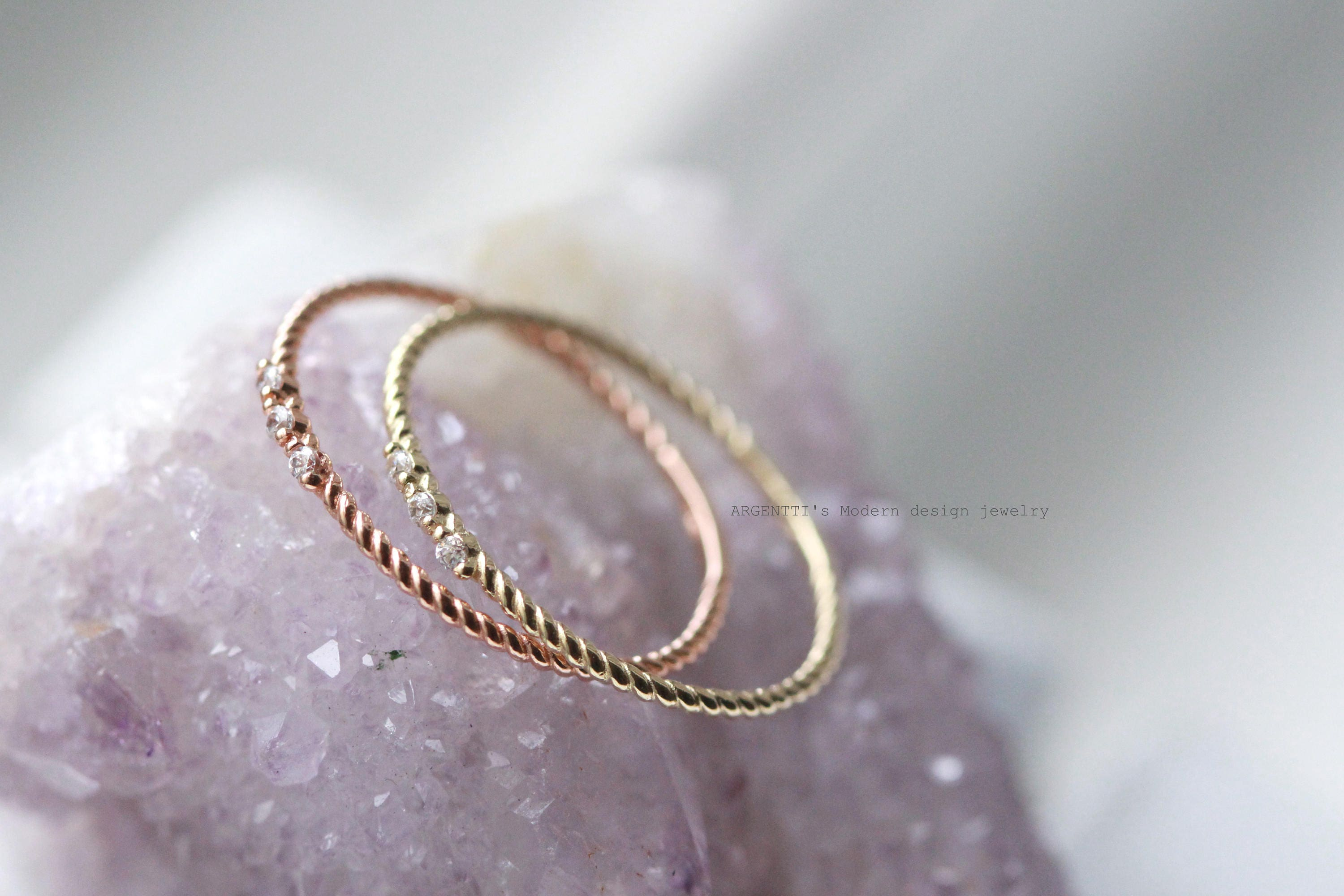 regalrose by midi silver ring or in original rose gold product simple band chevron bands