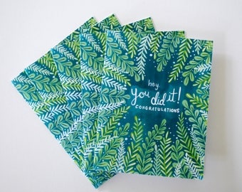 You Did It! greeting cards - hand painted set of five 5.5 x 4