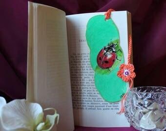 Bookmark original hand drawn Ladybird