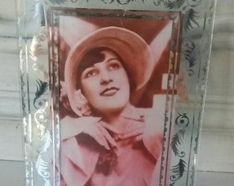 Vintage glass frame