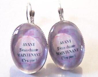 """""""Bitch"""" themed earrings"""