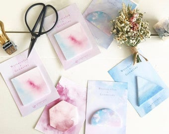 Watercolour Geometric Sticky Notes
