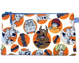 Scooby-Doo Mystery Machine Multi Purpose Pouch, Makeup Bag, Small Craft Project Bag, Gadget Bag, Pencil Case, Handmade in the UK