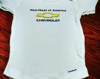Heartbeat of America Chevy Chevrolet Onesie or Toddler Tee Shirt Outfit