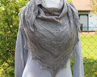 Shawl Knitting PATTERN PDF, Knitted Shawl Pattern, Lace Shawl Wrap Triangle Shawl - Specil Love Shawl