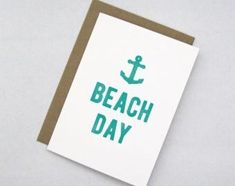 Beach Day Note Card
