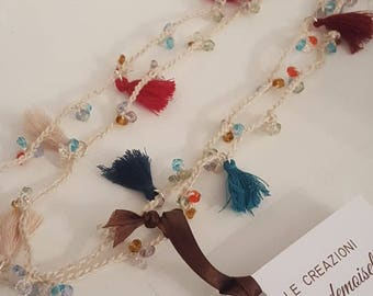 Millecolori Necklace with tassels