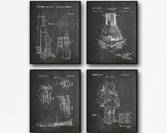 Space NASA Posters Set of Space Posters NASA Posters Space Wall Art Space Decor Space Suit Space Capsule Space Rocket WB095