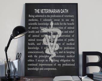 Veterinarian Gift For Veterinarian Oath Veterinarian Graduation Gift Vet Gift Vet Graduation Veterinary Wall Art Vet Wall Art Vet Posters