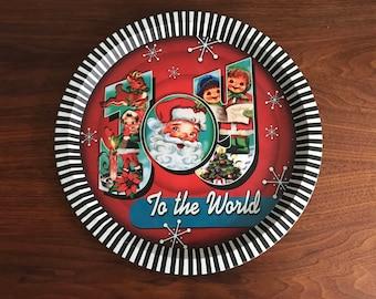 Joy to the World Round Platter