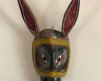 Mexican Wood Animal Mask Vintage