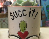 Reserved for Andy A. ** Ceramic Planter, Planter, Succulent Pot, Handmade Planter, Succ It Planter