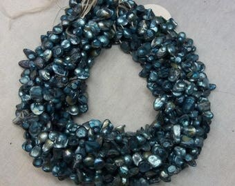 50% OFF 3 Strands Freshwater Pearl Tumble - Gray Coated Pearl Tumble Free Size - 14 Inches Long Strand