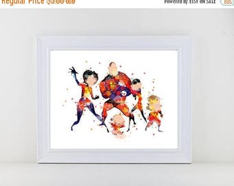 70%OFF The Incredibles Poster Watercolor Elastigirl Print Nursery Disney Print Incredibles Instant Download Birthday Gift Poster Watercolor