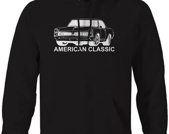 American Classic Pontiac GTO Goat Muscle Car Classic Hooded Sweatshirt- U173