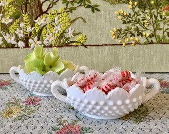 Milk Glass Bowl Milk Glass Candy Dish Wedding Fenton Glass Hobnail Bowl Hobnail Glass Fenton Hobnail Dessert Table Candy Bar Sugar Bowl