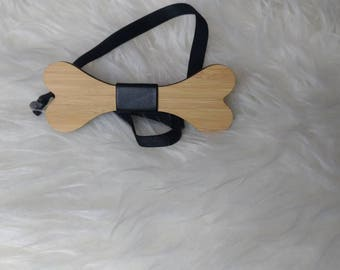 Bone Wood bow Tie