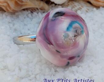 """Glass ring """"nebula"""" 1"""