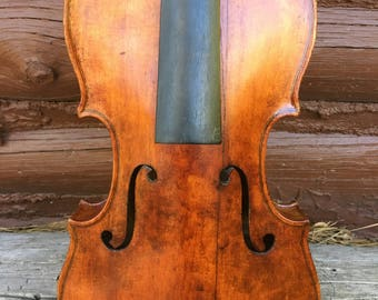 Old Violin For Restoration No Label, Perhaps German or French