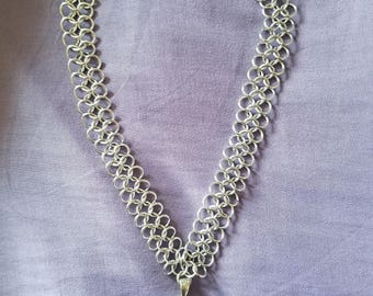 Moon and Star Chain Mail Necklace