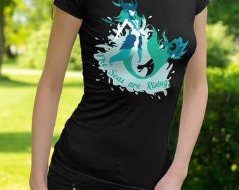 The Seas are Rising - Womens Ringspun T-Shirt