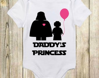 Daddy's Princess Star Wars Onesie®-Darth Vader-Daddy's Princess Shirt-Baby Star Wars Gift-Star Wars Baby-Baby Shower Gift-Star Wars Onesie